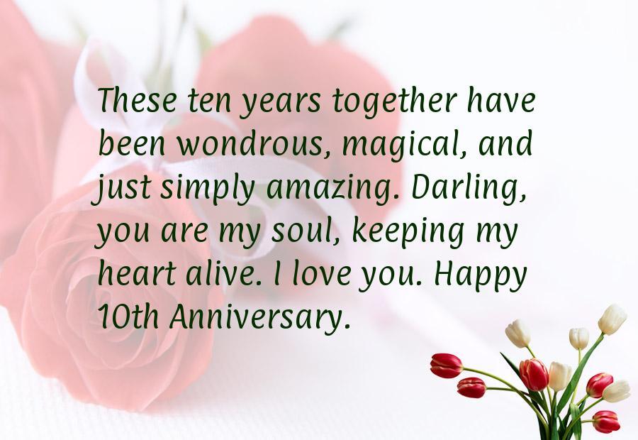 41 Year Anniversary Quotes: 10 Year Anniversary Quotes. QuotesGram