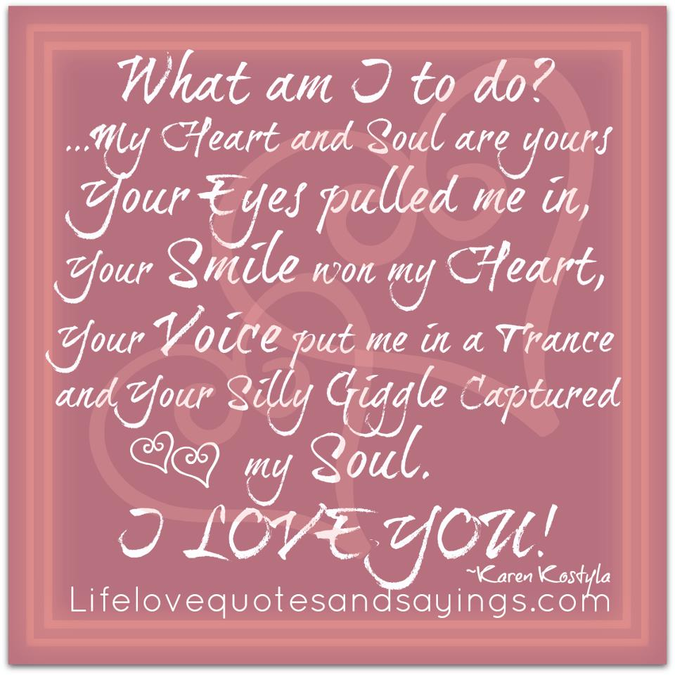 Quotes About The Heart: My Heart Quotes And Sayings. QuotesGram