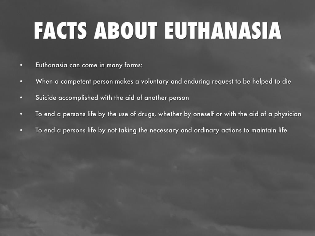 importance of euthanasia The entry sets out five conditions often said to be necessary for anyone to be a candidate for legalized voluntary euthanasia importance of individuals.