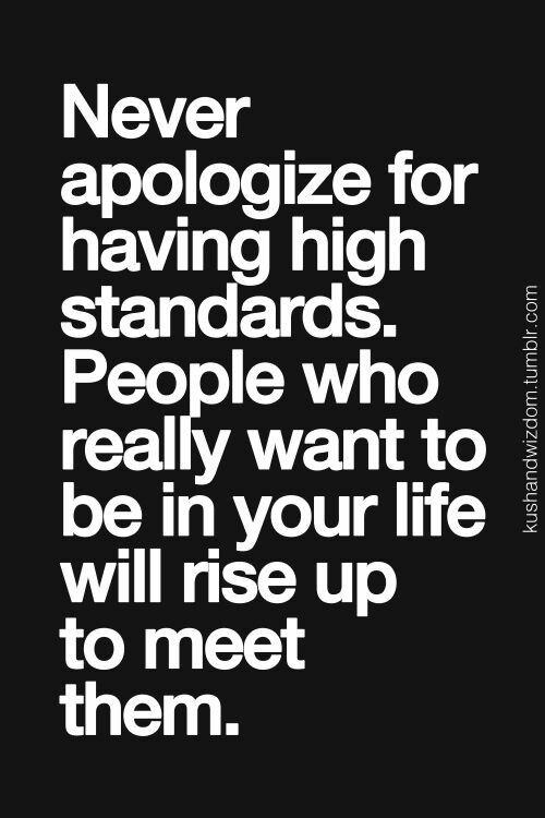 Having high about standards quotes Strong Women