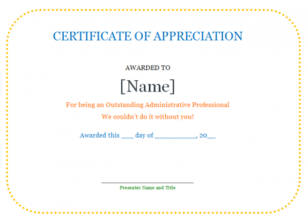 Certificate quotes quotesgram for Rotary certificate of appreciation template