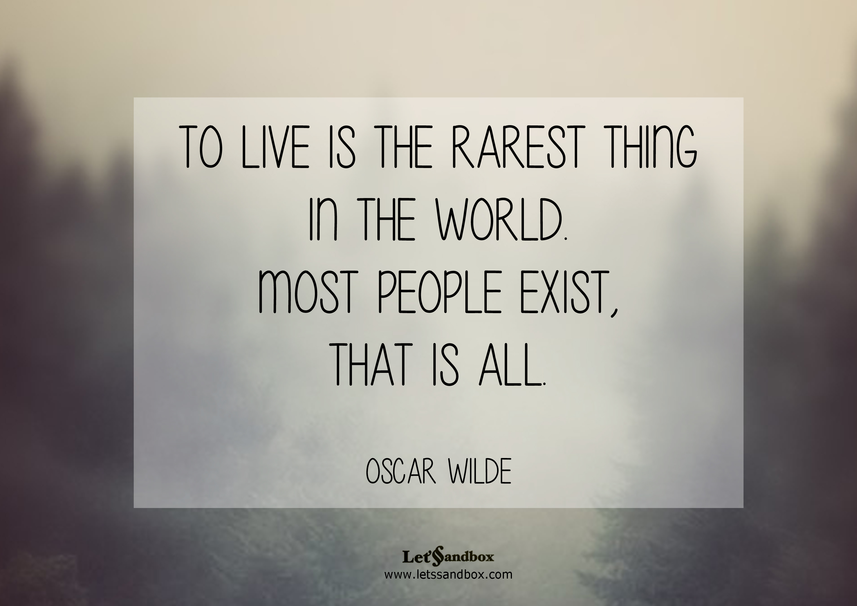 Quotes To Live Is The Rarest Thing Oscar Wilde. QuotesGram