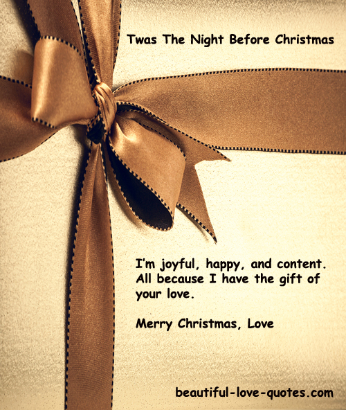 Quotes About Christmas Gifts: Night Before Christmas Quotes. QuotesGram