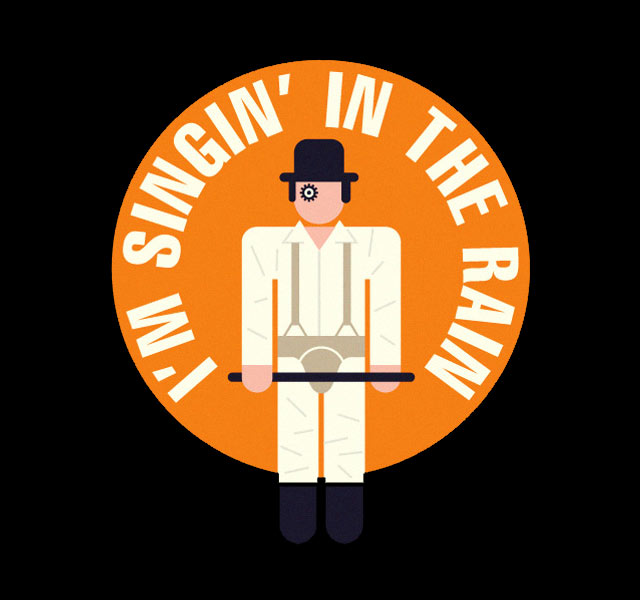 clockwork orange singing in the rain - 640×600