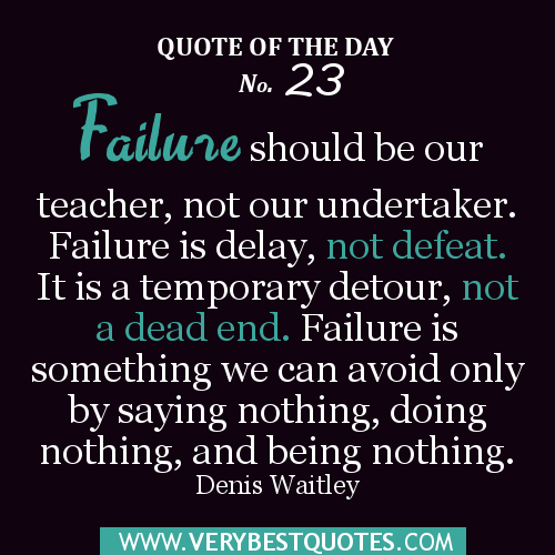 Inspirational Quotes About Failure: Quotes About Failure. QuotesGram