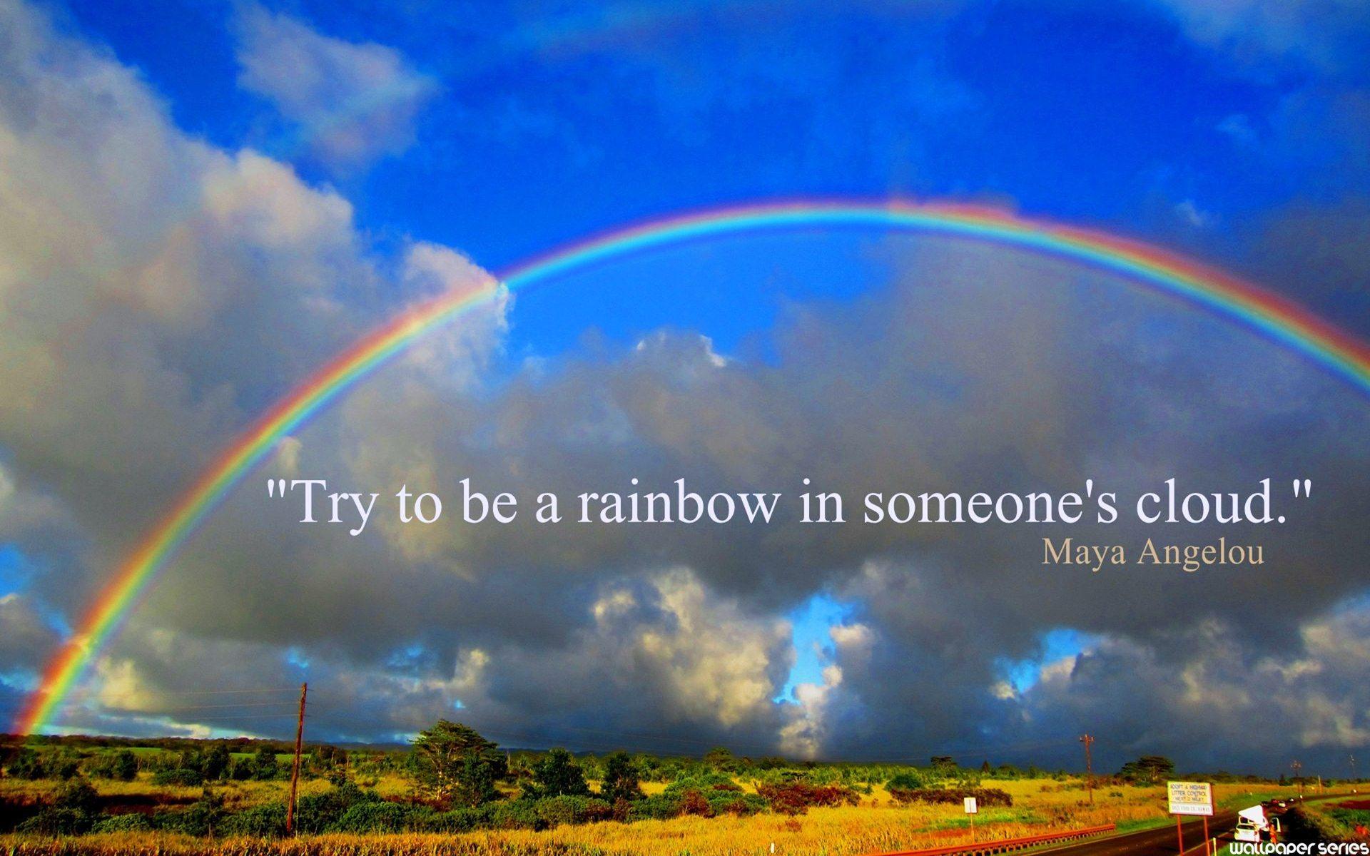 Positive Quotes About Rainbows. QuotesGram