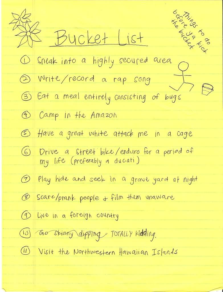 My Bucket List Quotes. QuotesGram