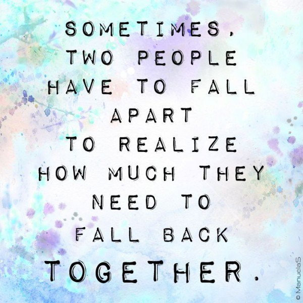 Quotes About A Relationship Falling Apart: Fall Apart When Love Quotes. QuotesGram