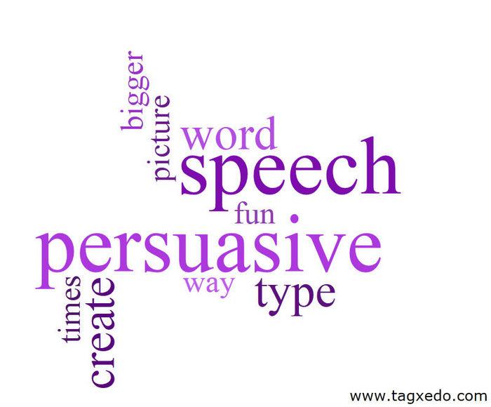 steps in writing persuasive speech