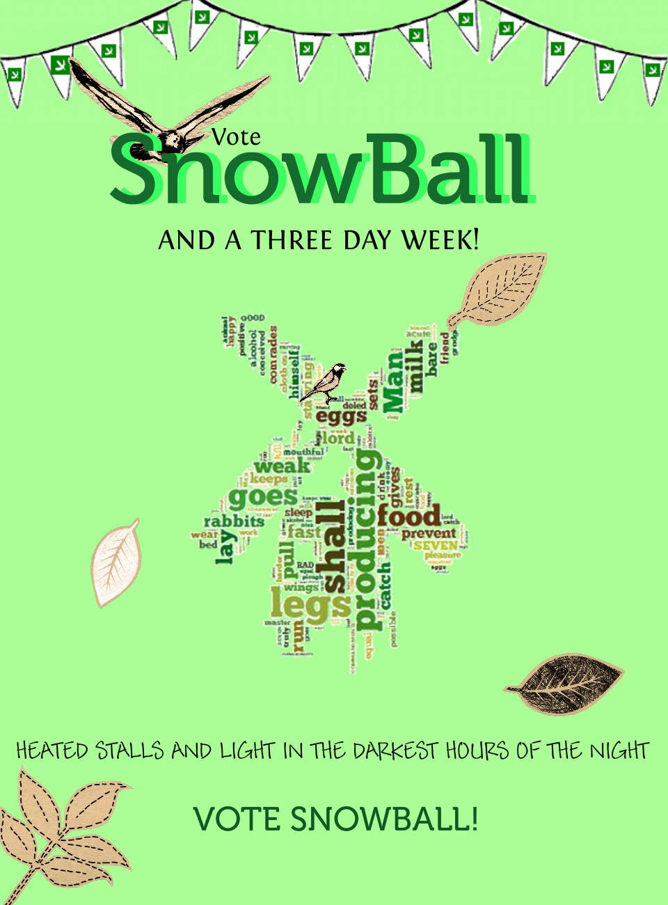 Animal Farm Snowball Campaign Poster Source