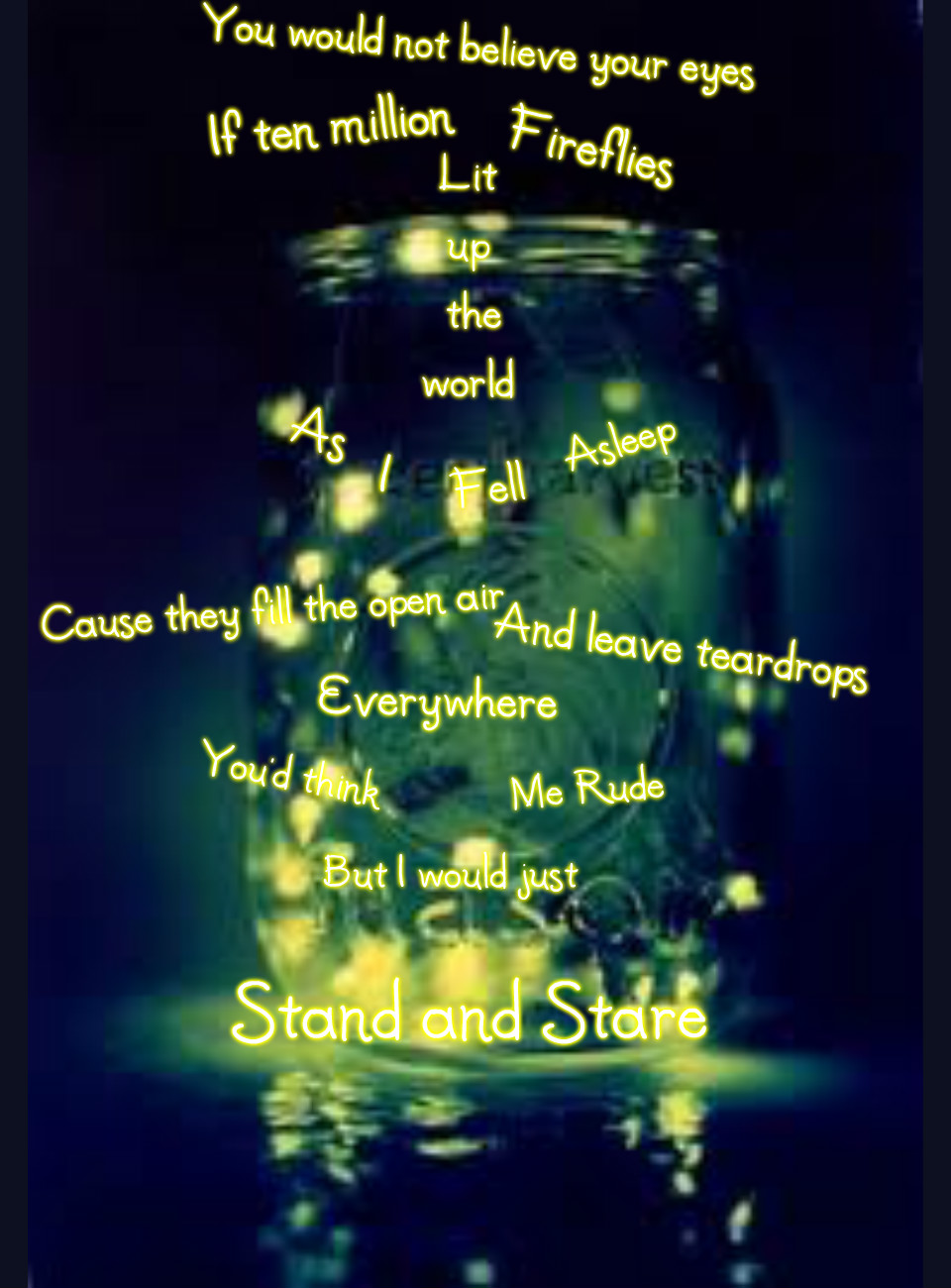 Quotes About Fireflies Quotesgram