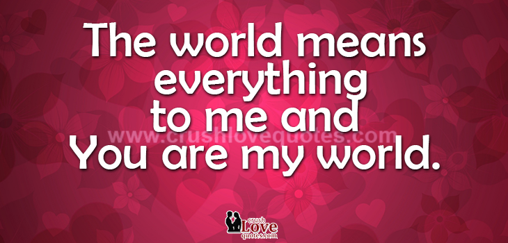 The Mean World To Me Quotes. QuotesGram