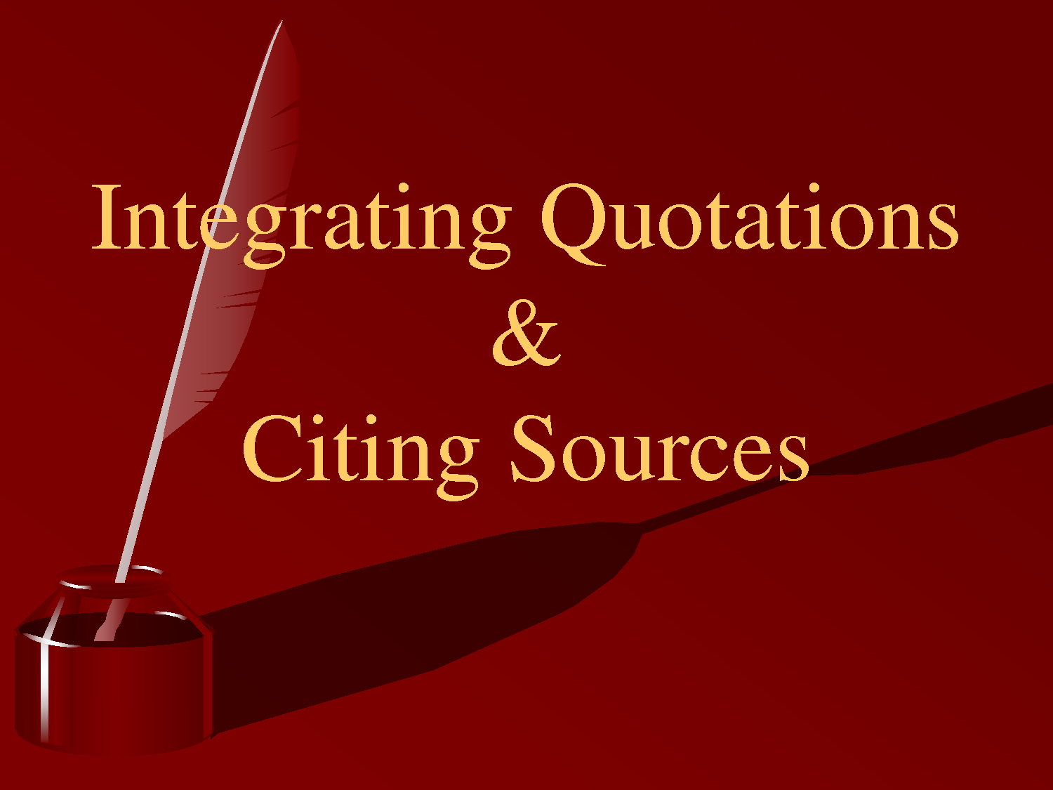 integrating quotes in essays format