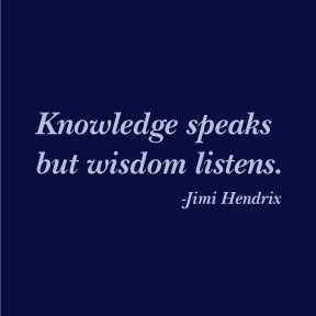 knowledge speaks but - photo #22