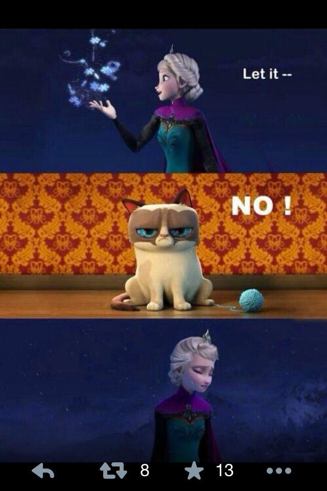 Frozen Grumpy Cat Quotes QuotesGram