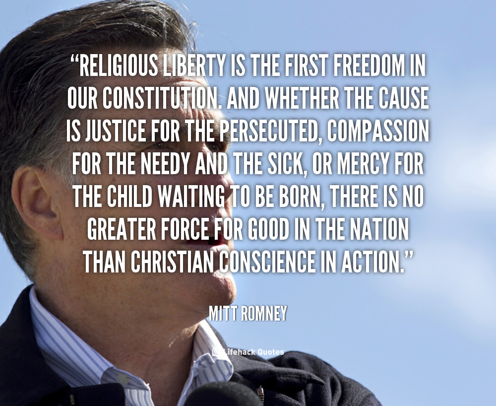 religious feedom A mormon perspective on religious freedom  religious belief in right and wrong is a vital influence to produce such voluntary compliance by a large number of our .