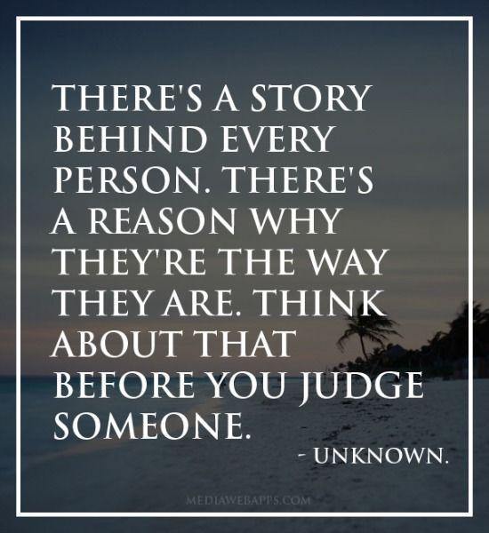 People will judge you any way