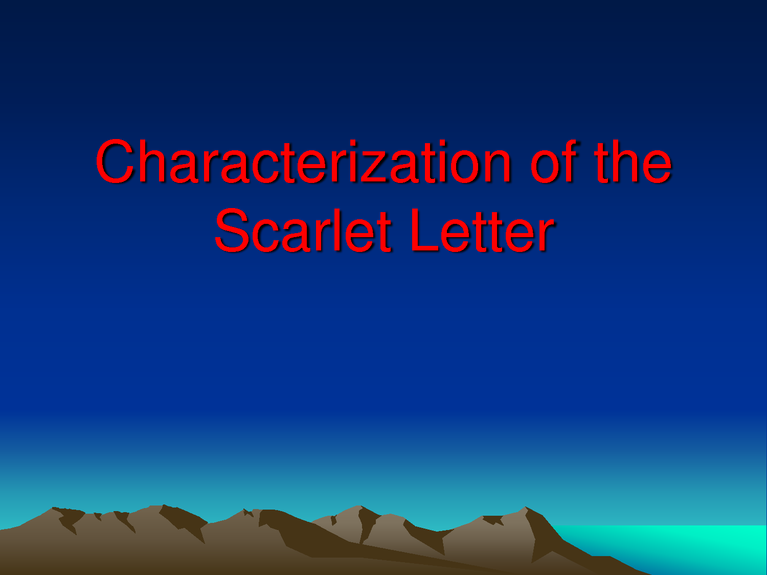 Scarlet Letter: the Nature of Sin Essay