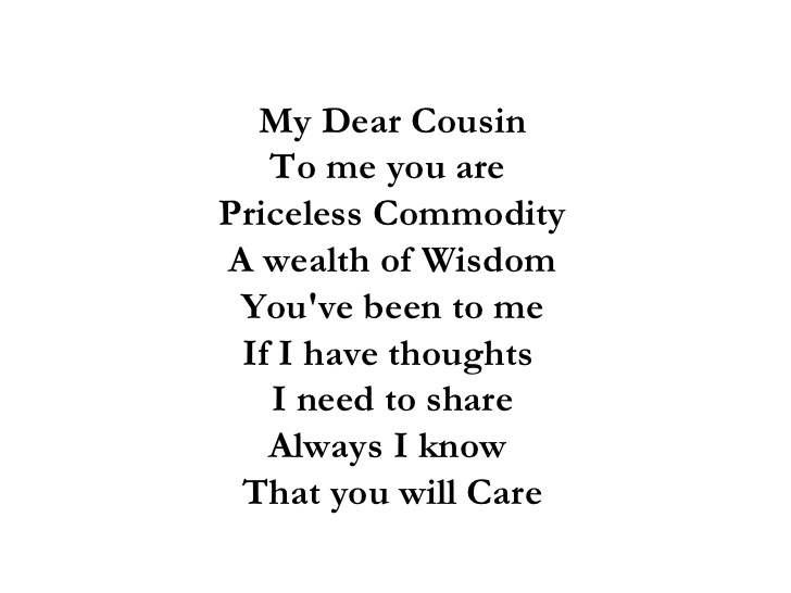 I Love You Quotes: Cousin Quotes And Poems. QuotesGram