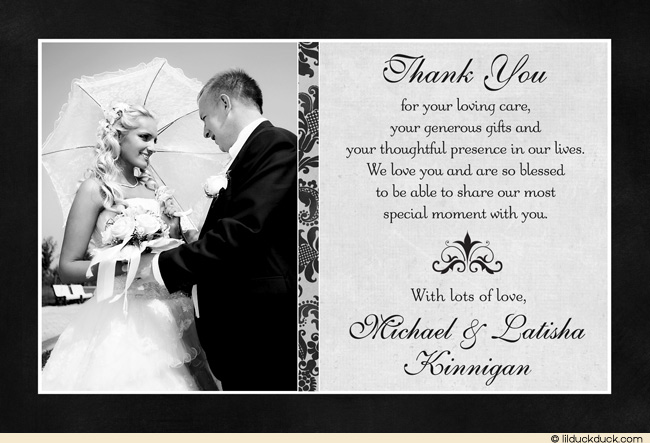 Wedding Thank You Greetings and Messages ~ WishesAlbum.com |Thank You Wedding Quotes