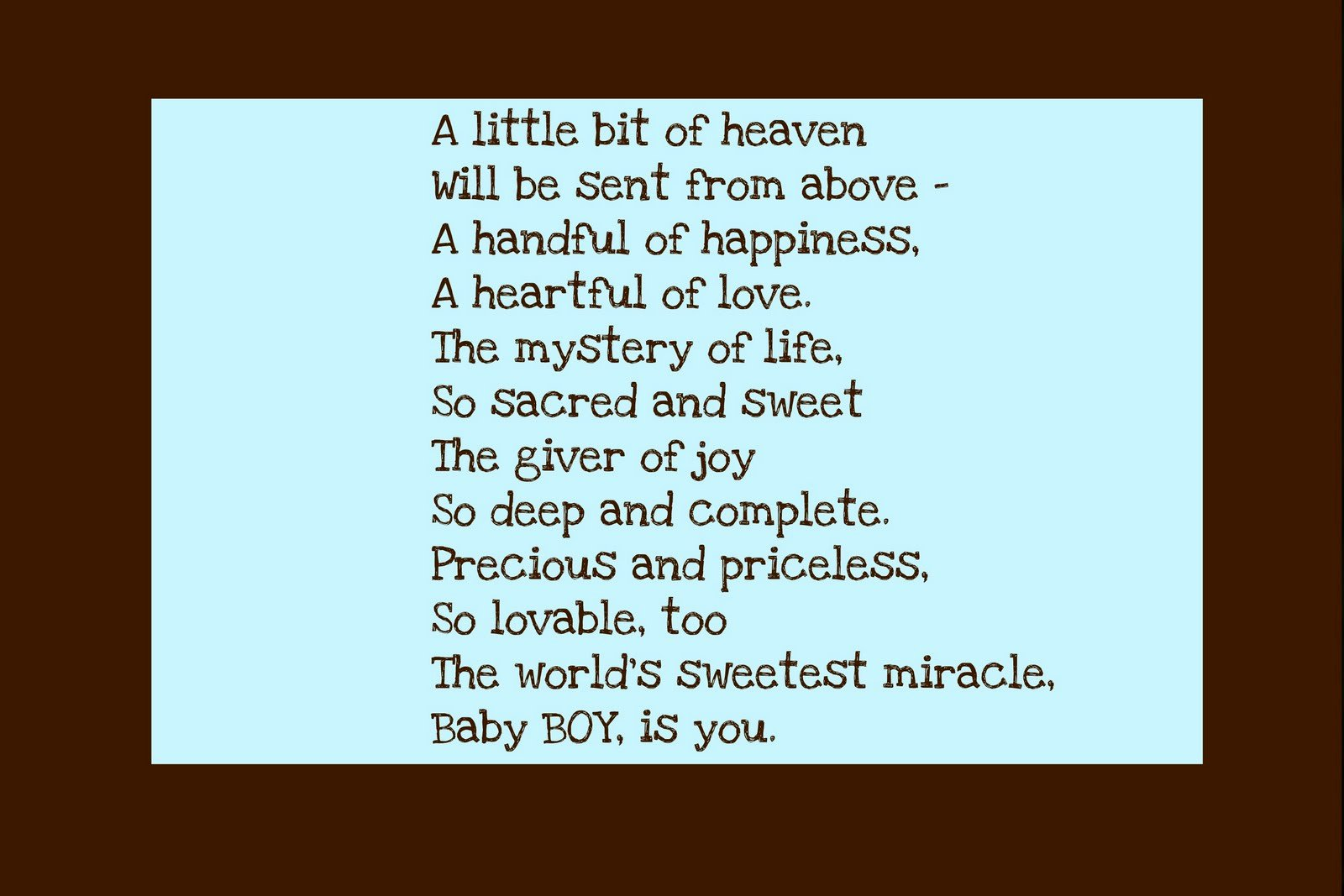 It S A Boy Quotes: Christian Baby Poems And Quotes. QuotesGram