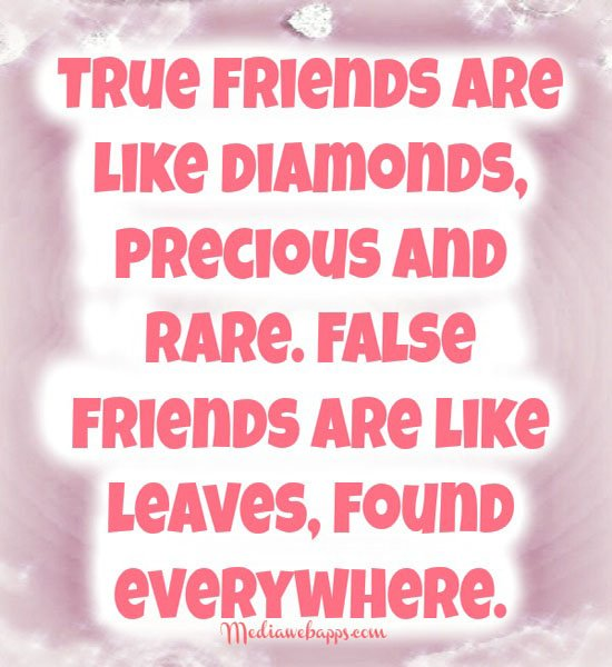 Quotes For True Friends And Fake Friends: Famous Quotes About Real Friends. QuotesGram