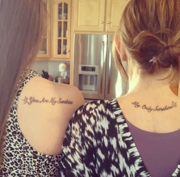 Tattoo Quotes For Mom: Mother Daughter Tattoo Quotes. QuotesGram