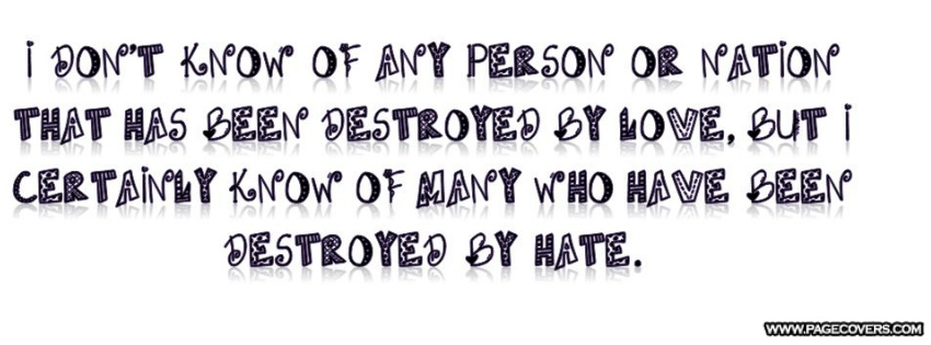 Quotes About Love Vs Hate : Love Vs Hate Quotes. QuotesGram