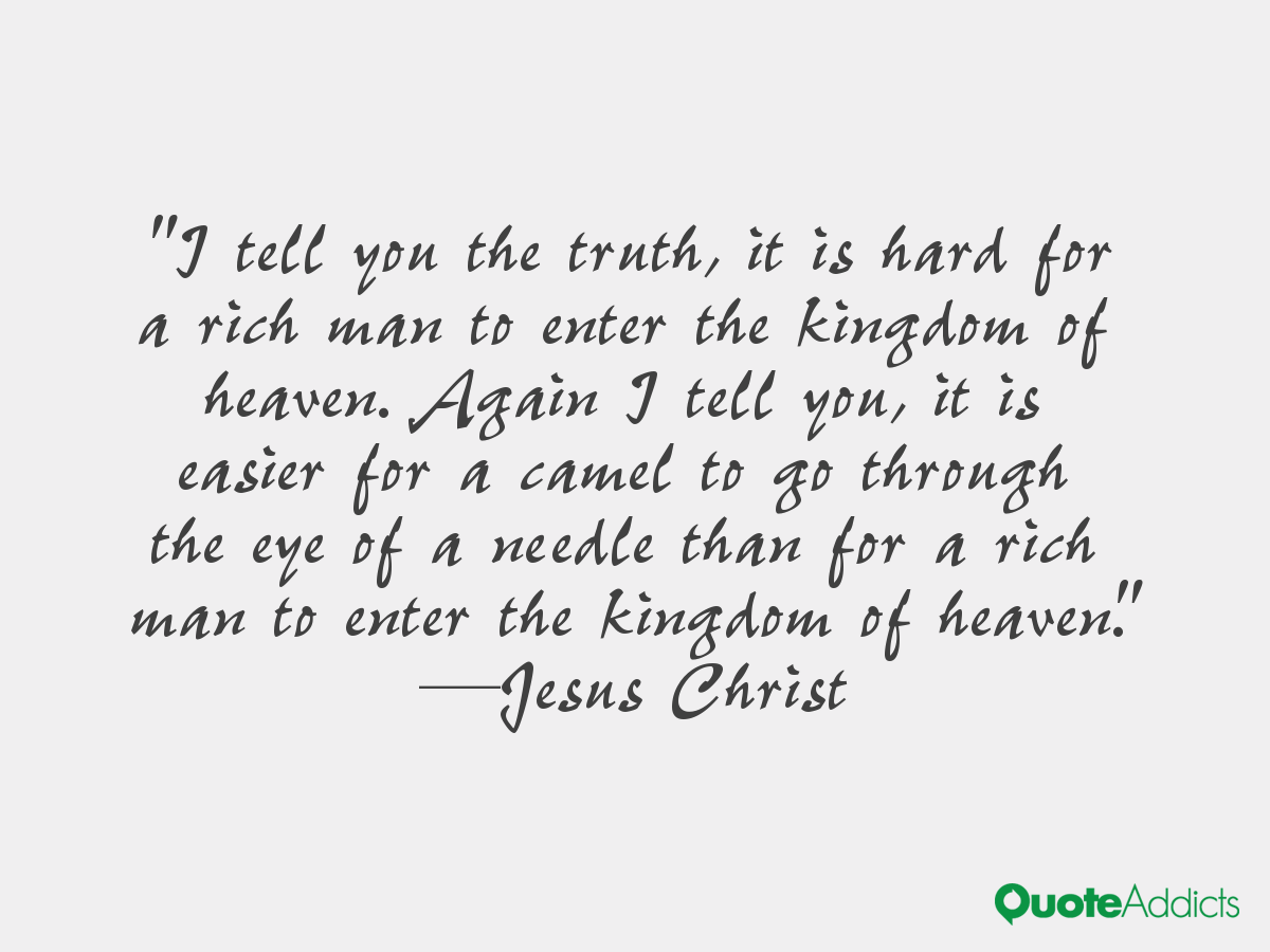 Jesus Quotes About The Rich. QuotesGram