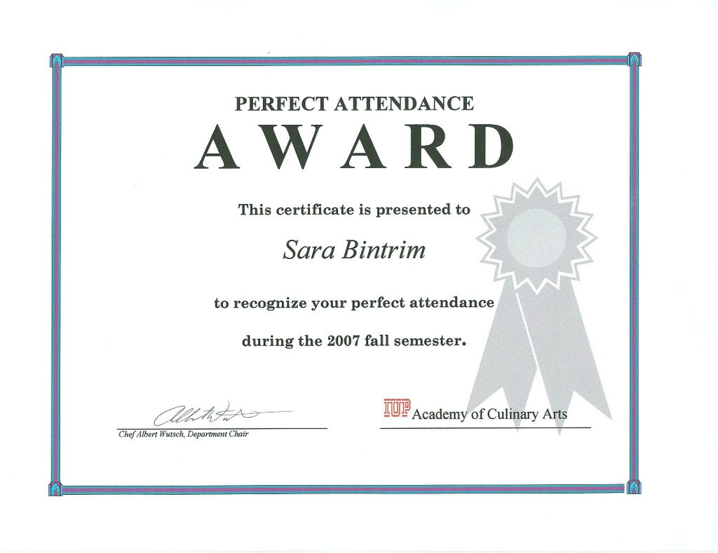Congratulation on perfect attendance quotes quotesgram for Printable perfect attendance certificate template