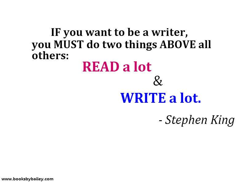 how to write a horror novel stephen king