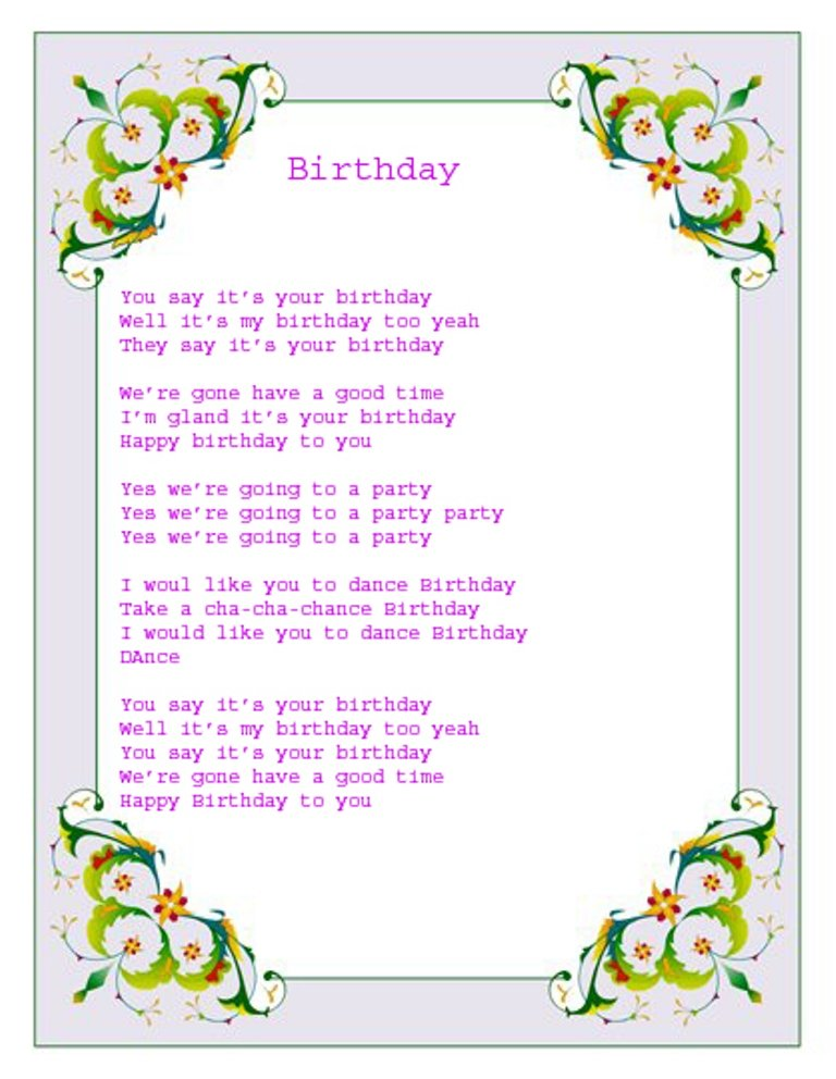 Surprising Birthday Music Quotes Quotesgram Funny Birthday Cards Online Fluifree Goldxyz