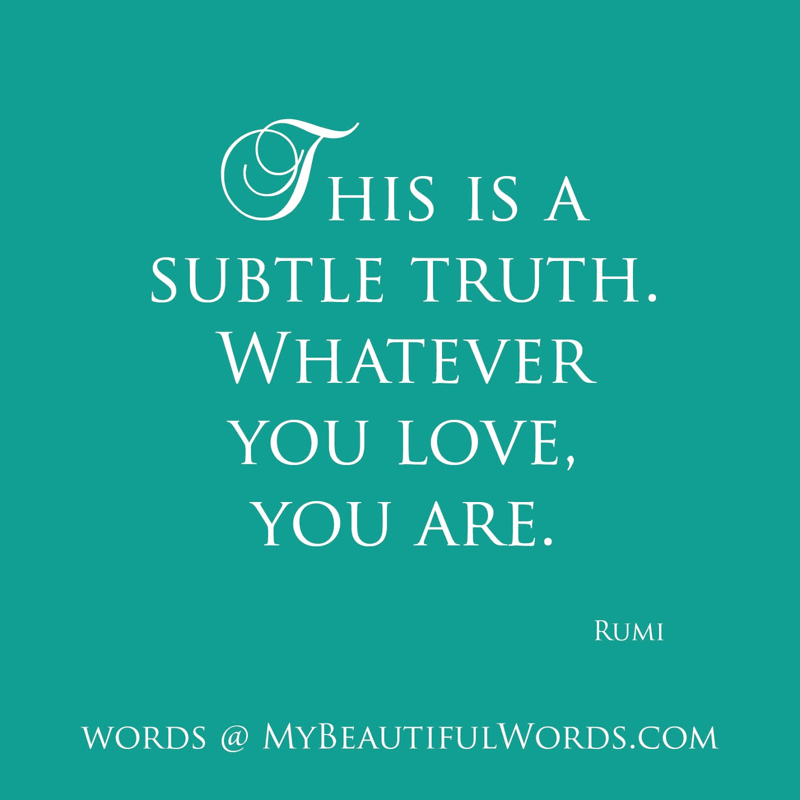 Quotes About Love: Rumi Quotes About Love. QuotesGram