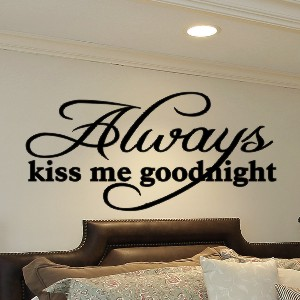 Master bedroom wall quotes quotesgram for Bedroom quote wall stickers