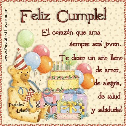 Поздравление с днем рождения девушке на испанском