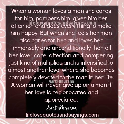 When A Man Loves A Woman Quotes Quotesgram