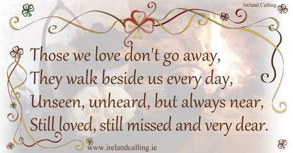 Irish Quotes For A Funeral Quotesgram