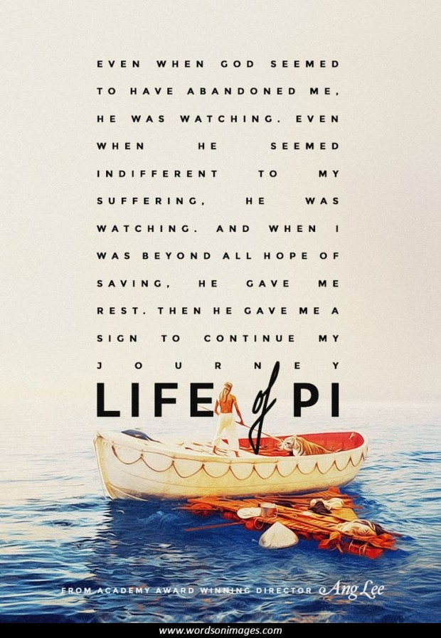 life of pi religion and survival Yann martel's life of pi is the story of a young man who survives a harrowing  shipwreck and  although the religious leaders don't accept pi's plural religions,  his family gradually does  now only pi and richard parker survive on the  lifeboat.