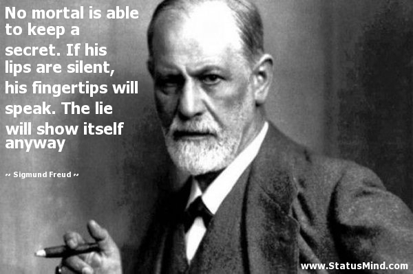 Freud defines the secrets of the mind