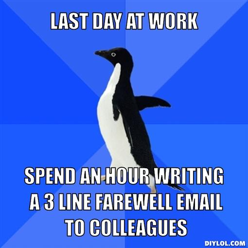 Tips to write goodbye email to colleagues on your last working day
