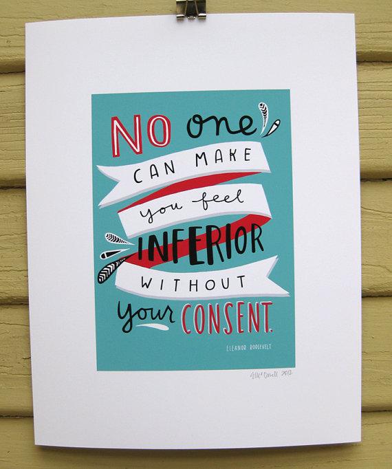 Inferior Quotes: Inferior Eleanor Roosevelt Quotes. QuotesGram