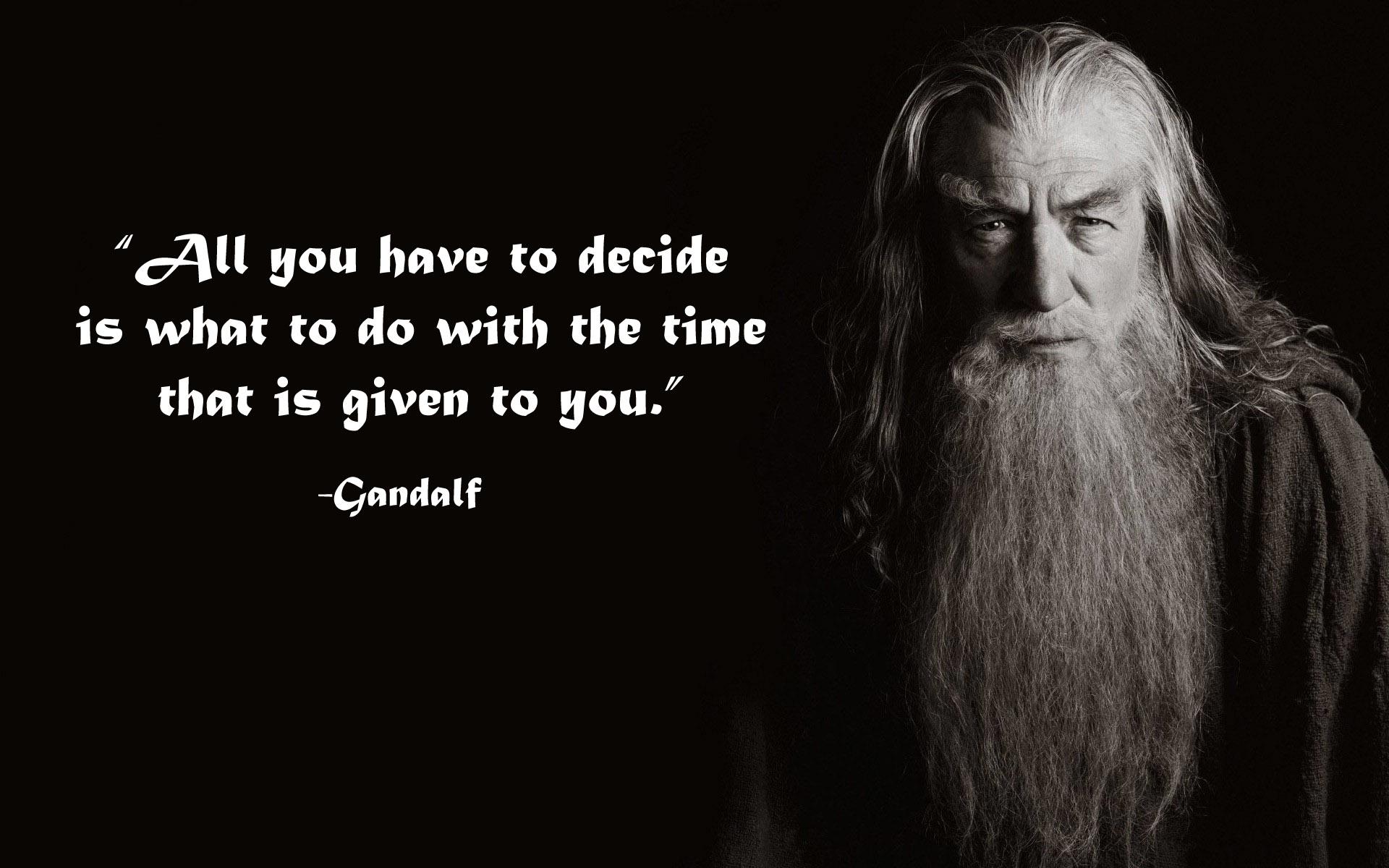Gandalf Zitate