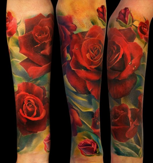Tattoo Quotes With Roses: Rose Sleeve Tattoos With Quotes. QuotesGram