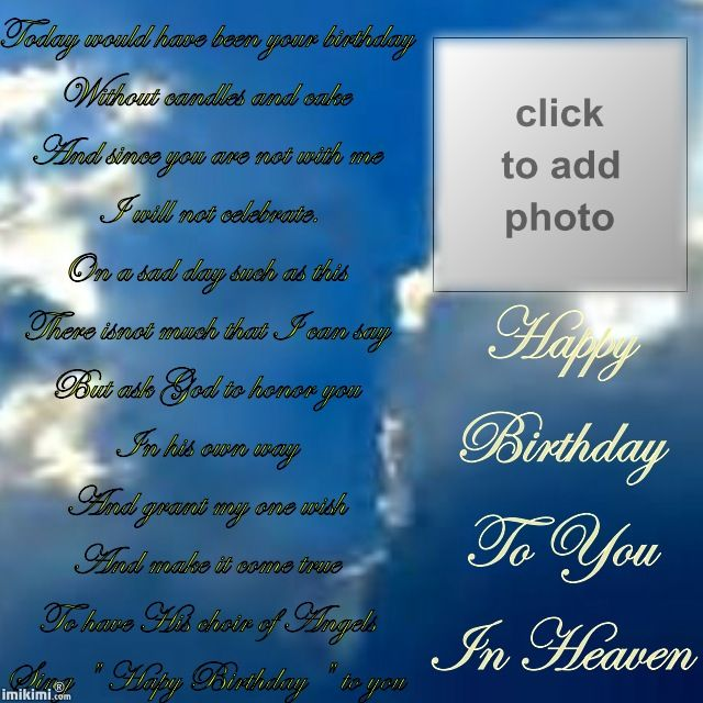 Happy Birthday Amitabh Bachchan Quotes: Happy Birthday To My Son In Heaven Quotes. QuotesGram