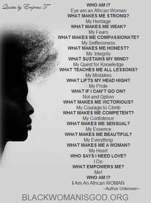 Woman Black Girl Quotes