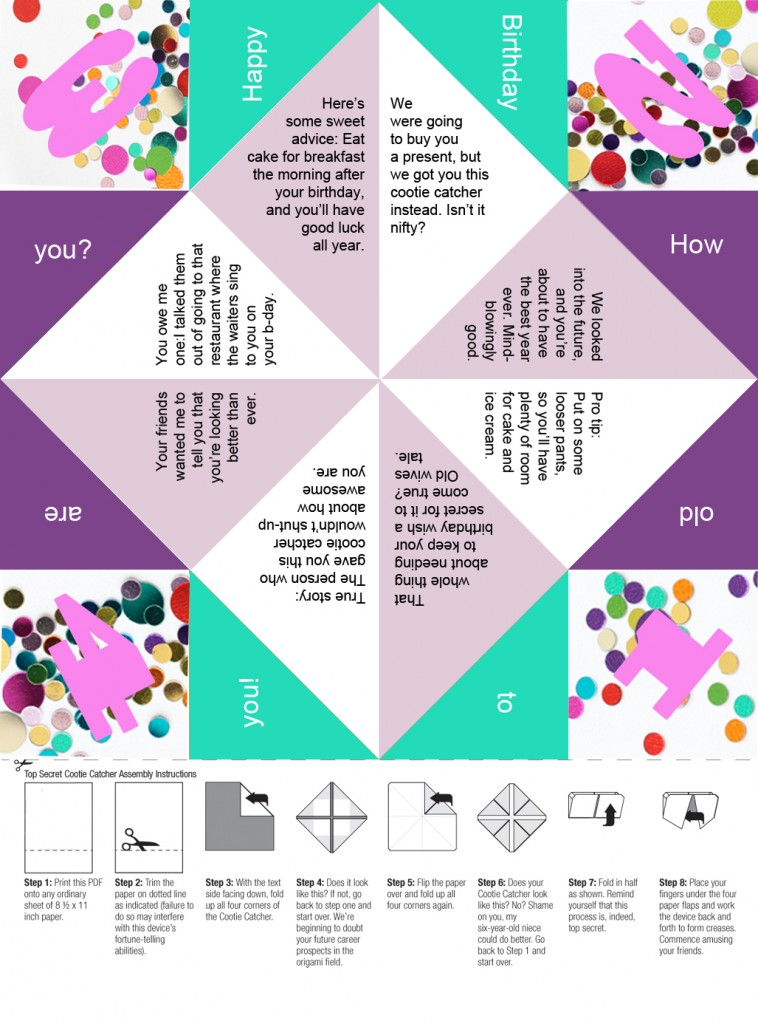 Monster image throughout fortune teller printable
