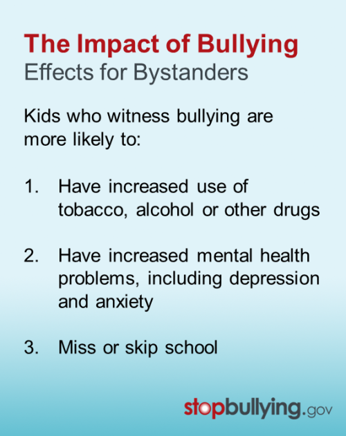 what are the effects of bullying Introduction bullying affects a large number of children and lays the groundwork for long-term risk for psychological, physical, and psychosomatic outcomes.