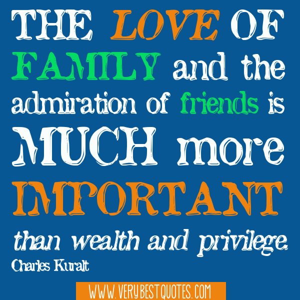 friendship is more important than family Relationships between school and family:  the teacher and family's activities are more important than race,  they get involved more than i have ever wanted.