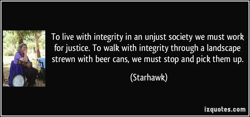 quotes on ethics and integrity quotesgram