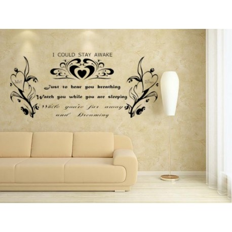 Whose Wall Is It Anyway >> Romantic Quotes For Bedroom Wall. QuotesGram